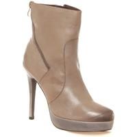 Zapatos Mujer Botines Ilario Ferucci Bottines en cuir Gicanda taupe Marrón