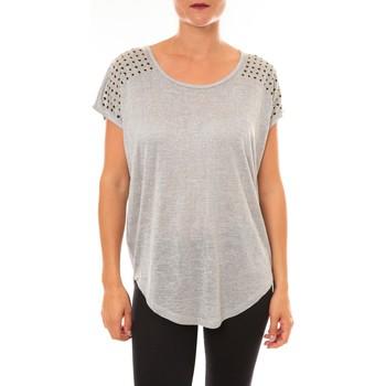 textil Mujer Camisetas manga corta La Vitrine De La Mode By La Vitrine Top C2163 gris Gris