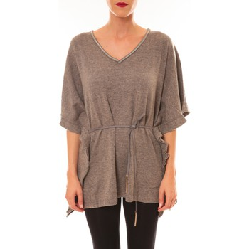 textil Mujer Camisetas manga corta La Vitrine De La Mode By La Vitrine Pull MC3120 gris foncé Gris