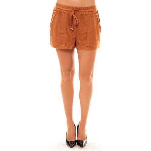 textil Mujer Shorts / Bermudas La Vitrine De La Mode By La Vitrine Short Y536 camel Marrón