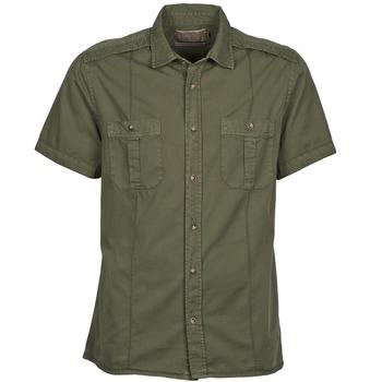 textil Hombre camisas manga corta Chevignon C MILITARY TWIL Verde