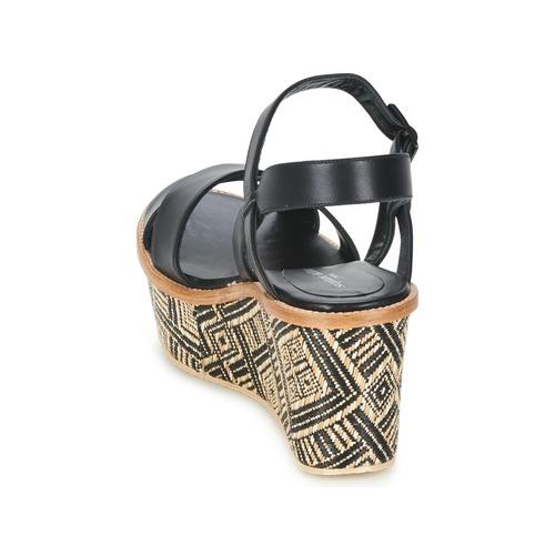 Negro Mujer Bella Kelian Stéphane Zapatos Sandalias 7 JlKT1Fc