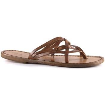 Zapatos Mujer Zuecos (Mules) Gianluca - L'artigiano Del Cuoio 543 D CUOIO CUOIO Cuoio