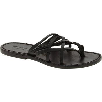 Zapatos Mujer Sandalias Gianluca - L'artigiano Del Cuoio 543 D NERO CUOIO nero