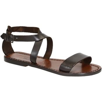 Zapatos Mujer Sandalias Gianluca - L'artigiano Del Cuoio 509 D MORO CUOIO Testa di Moro