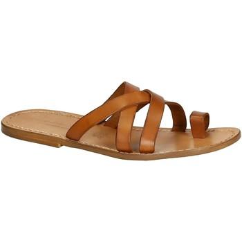 Zapatos Hombre Sandalias Gianluca - L'artigiano Del Cuoio 549 U CUOIO CUOIO Cuoio