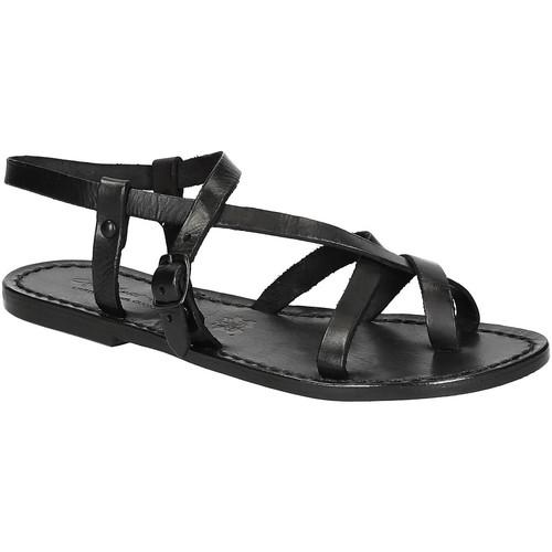 Zapatos Mujer Sandalias Gianluca - L'artigiano Del Cuoio 530 D NERO CUOIO nero