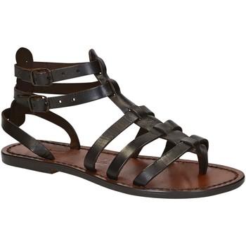 Zapatos Mujer Sandalias Gianluca - L'artigiano Del Cuoio 506 D MORO CUOIO Testa di Moro