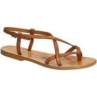 Zapatos Mujer Sandalias Gianluca - L'artigiano Del Cuoio 537 D CUOIO CUOIO Cuoio