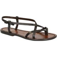 Zapatos Mujer Sandalias Gianluca - L'artigiano Del Cuoio 537 D MORO CUOIO Testa di Moro