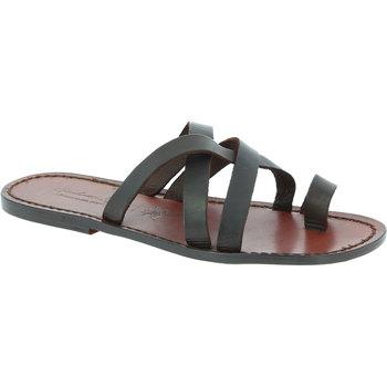 Zapatos Hombre Sandalias Gianluca - L'artigiano Del Cuoio 549 U MORO CUOIO Testa di Moro