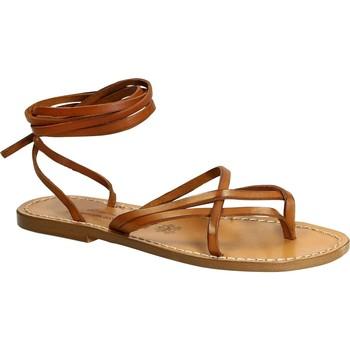 Zapatos Mujer Sandalias Gianluca - L'artigiano Del Cuoio 514 D CUOIO CUOIO Cuoio