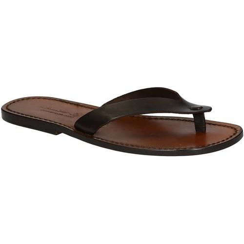 Zapatos Hombre Chanclas Gianluca - L'artigiano Del Cuoio 541 U MORO CUOIO Testa di Moro