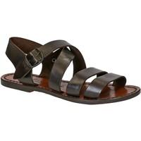 Zapatos Mujer Sandalias Gianluca - L'artigiano Del Cuoio 508 D MORO CUOIO Testa di Moro