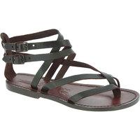 Zapatos Mujer Sandalias Gianluca - L'artigiano Del Cuoio 574 D MORO CUOIO Testa di Moro