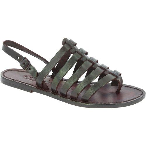 Zapatos Mujer Sandalias Gianluca - L'artigiano Del Cuoio 576 D MORO CUOIO Testa di Moro
