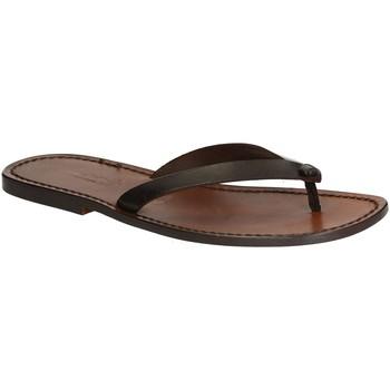 Zapatos Hombre Chanclas Gianluca - L'artigiano Del Cuoio 540 U MORO CUOIO Testa di Moro