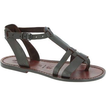 Zapatos Mujer Sandalias Gianluca - L'artigiano Del Cuoio 572 D MORO CUOIO Testa di Moro