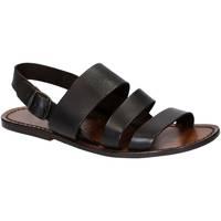Zapatos Hombre Sandalias Gianluca - L'artigiano Del Cuoio 507 U MORO CUOIO Testa di Moro