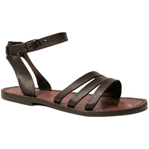 Zapatos Mujer Sandalias Gianluca - L'artigiano Del Cuoio 583 D MORO CUOIO Testa di Moro