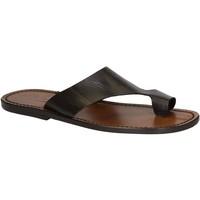 Zapatos Hombre Sandalias Gianluca - L'artigiano Del Cuoio 521 U MORO CUOIO Testa di Moro