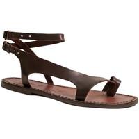 Zapatos Mujer Sandalias Gianluca - L'artigiano Del Cuoio 526 D MORO CUOIO Testa di Moro