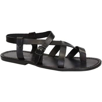 Zapatos Hombre Sandalias Gianluca - L'artigiano Del Cuoio 530 U NERO CUOIO nero