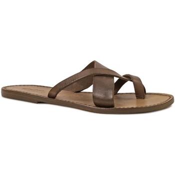 Zapatos Mujer Sandalias Gianluca - L'artigiano Del Cuoio 545 D FANGO CUOIO Fango