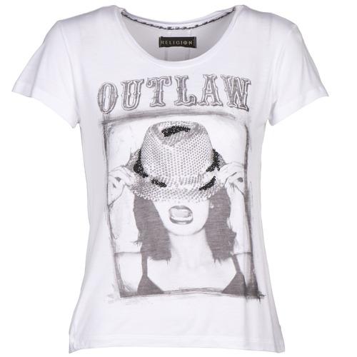 textil Mujer camisetas manga corta Religion B123OLT45 Blanco