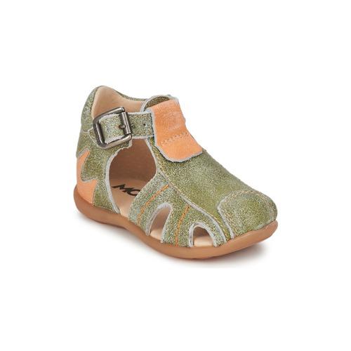 Zapatos Niño Sandalias Mod'8 ALUCINE Verde / Naranja