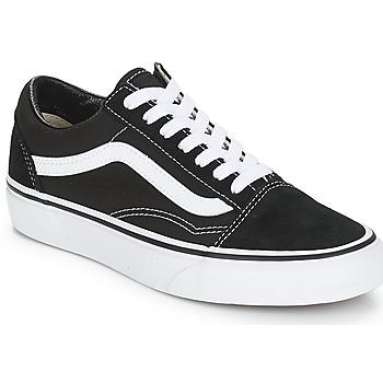 Zapatos Zapatillas bajas Vans OLD SKOOL Negro / Blanco