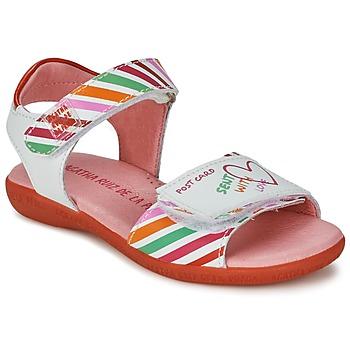 Zapatos Niña Sandalias Agatha Ruiz de la Prada CAZOLETA Blanco / Multicolor