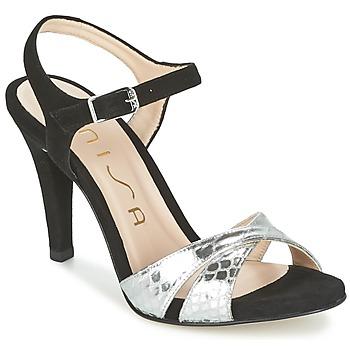 Zapatos Mujer Sandalias Unisa WARIAN Negro / Plateado