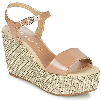 Zapatos Mujer Sandalias Unisa LITUAN Beige / Rosa