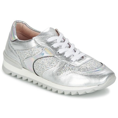 Zapatos Mujer Zapatillas bajas Unisa DALTON Plateado / Blanco