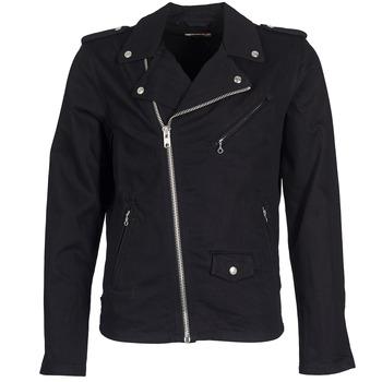 textil Hombre chaquetas denim Schott JOHN Negro