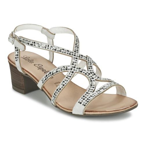 Zapatos Mujer Sandalias Lola Espeleta GRILLION Blanco