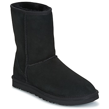 Zapatos Mujer Botas de caña baja UGG CLASSIC SHORT Negro