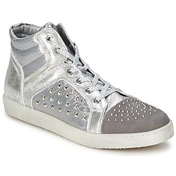 Zapatos Mujer Zapatillas altas Hip 90CR Plateado-cocodrilo