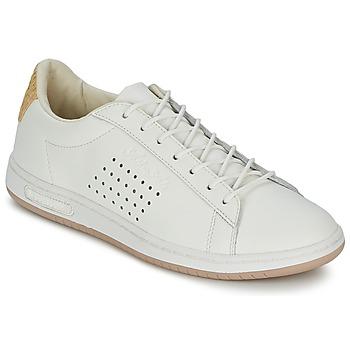 Zapatos Zapatillas bajas Le Coq Sportif ARTHUR ASHE RAFFIA Crema