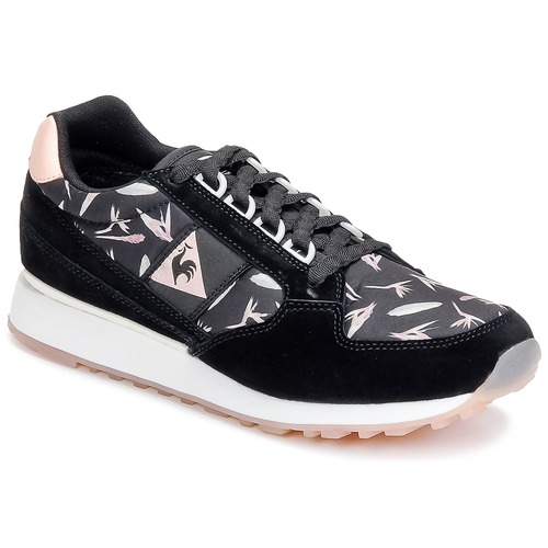 Zapatos Mujer Zapatillas bajas Le Coq Sportif ECLAT WOMAN BIRD OF PARADISE Negro / Rosa