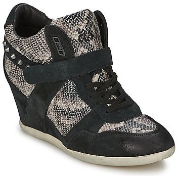 Zapatos Mujer Zapatillas altas Ash BISOU Negro / Serpiente