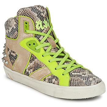 Zapatos Mujer Zapatillas altas Ash SONIC Serpiente / Amarillo