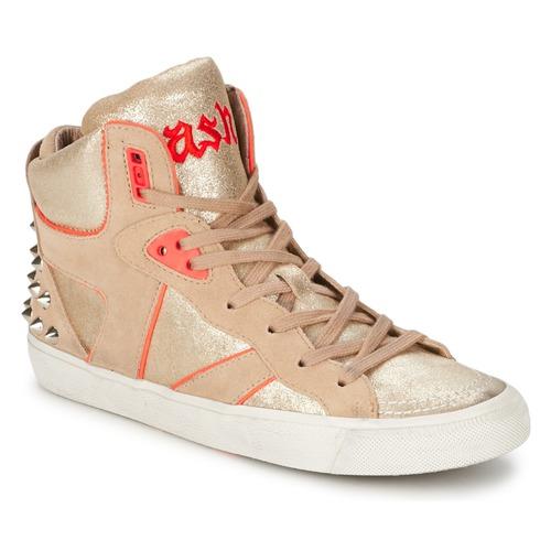 Zapatos Mujer Zapatillas altas Ash SPIRIT Beige / Rosa