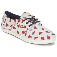 Zapatos Mujer Zapatillas bajas Faguo CYPRESS Blanco / Rojo