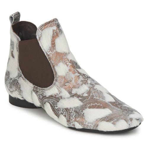 Zapatos Mujer Botas de caña baja Think ASSAM Beige