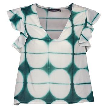 textil Mujer camisetas manga corta Antik Batik BAB Blanco / Verde