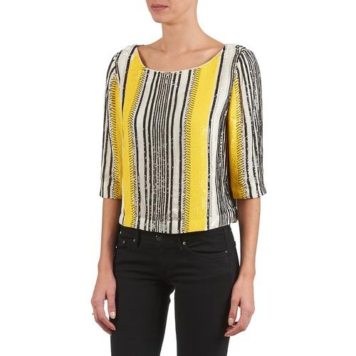 Textil Antik Batik Mujer Blanco Zabou Negro Amarillo TopsBlusas nOk8P0w