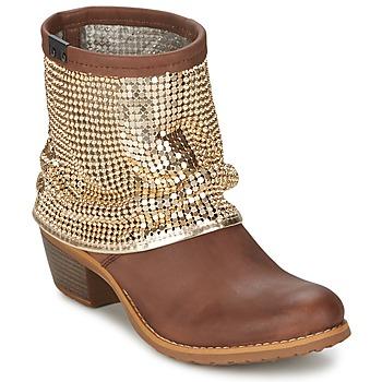 Zapatos Mujer Botas de caña baja Bunker RIA Strass Topotea / Dorado