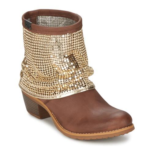 Zapatos Mujer Botines Bunker RIA Strass Topotea / Dorado